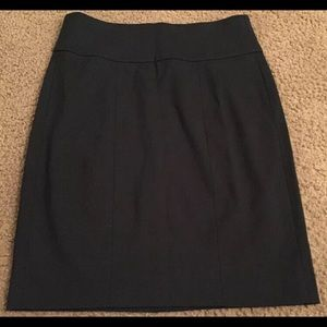 CAbi Downtown Pencil Skirt Sz 4 Black Unlined 225